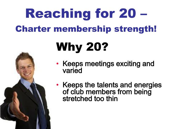 Reaching for 20 –