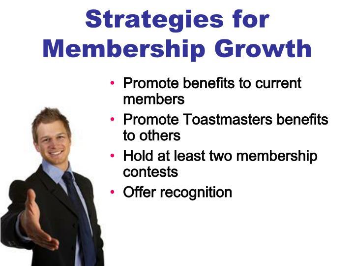 Strategies for Membership Growth