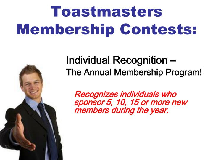Toastmasters Membership Contests: