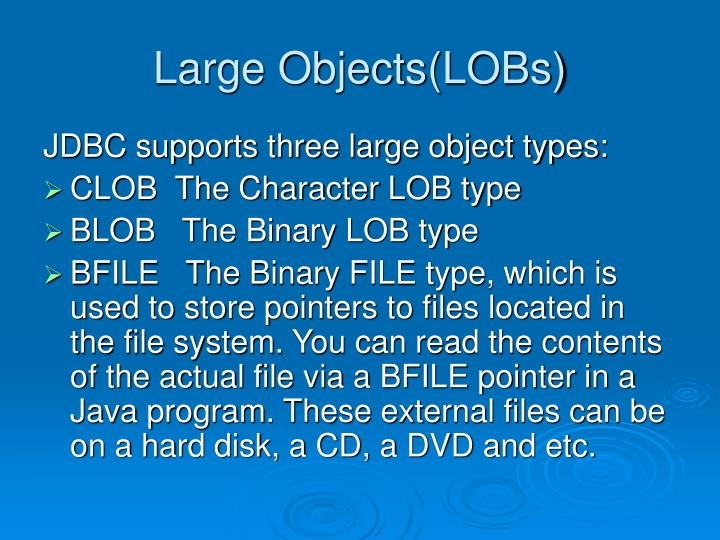 Large Objects(LOBs)