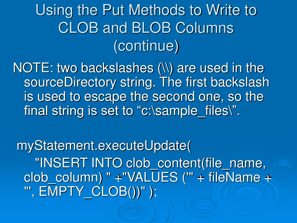 How To Insert A Clob Column In Oracle How to import a CLOB