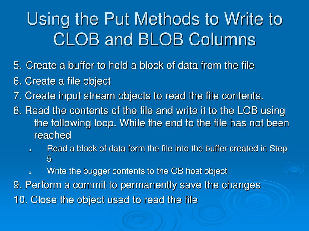 Oracle Write Clob To File