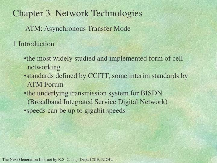 Introduction to ATM Networking