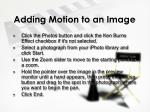 adding motion to an image1