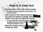 fade in fade out