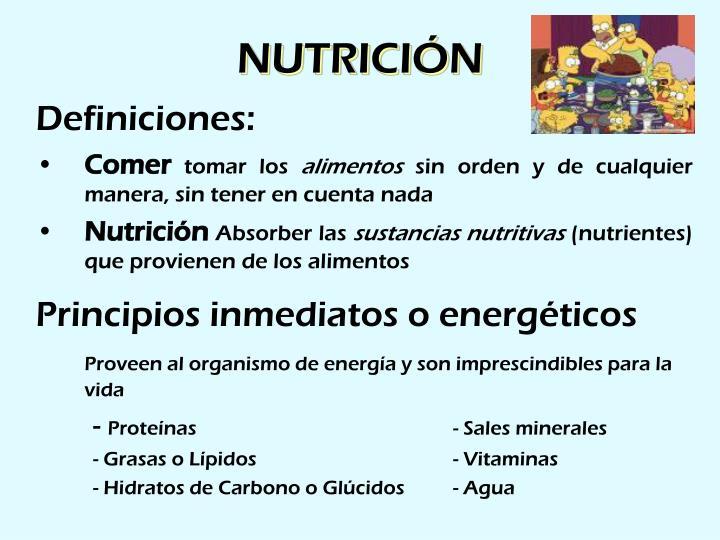 Nutrici n