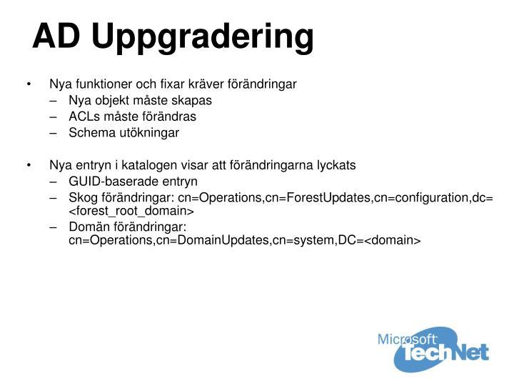 AD Uppgradering