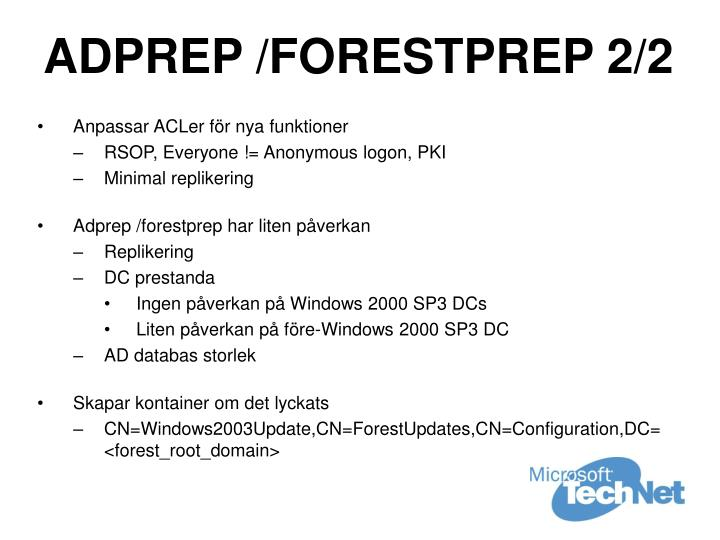 ADPREP /FORESTPREP 2/2