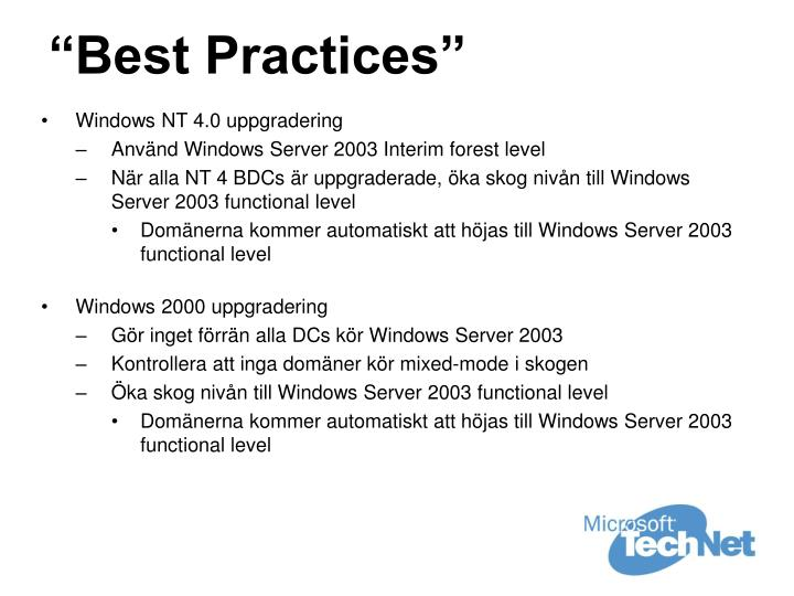 """""""Best Practices"""""""