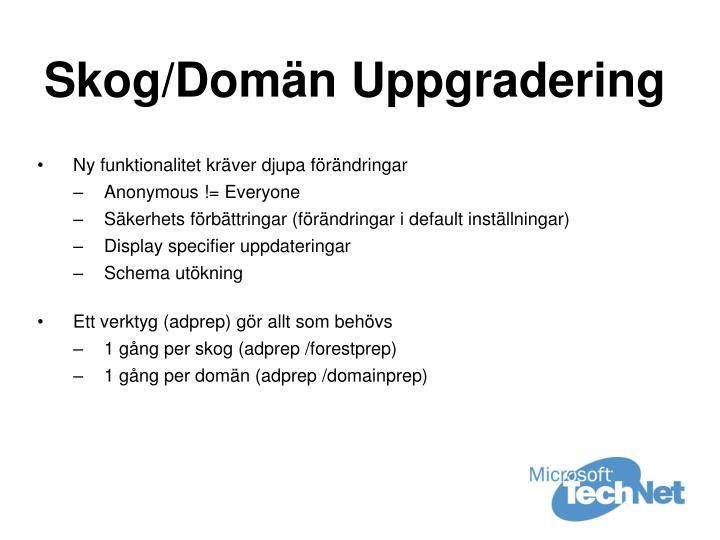 Skog/Domän Uppgradering