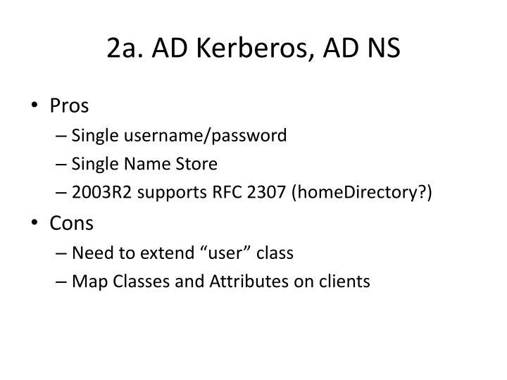 2a. AD Kerberos, AD NS