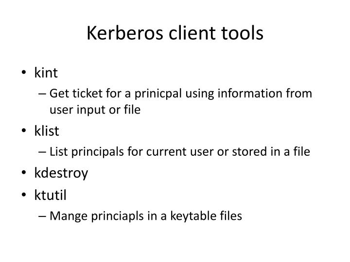 Kerberos client tools