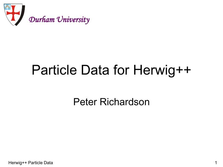 particle data for herwig n.