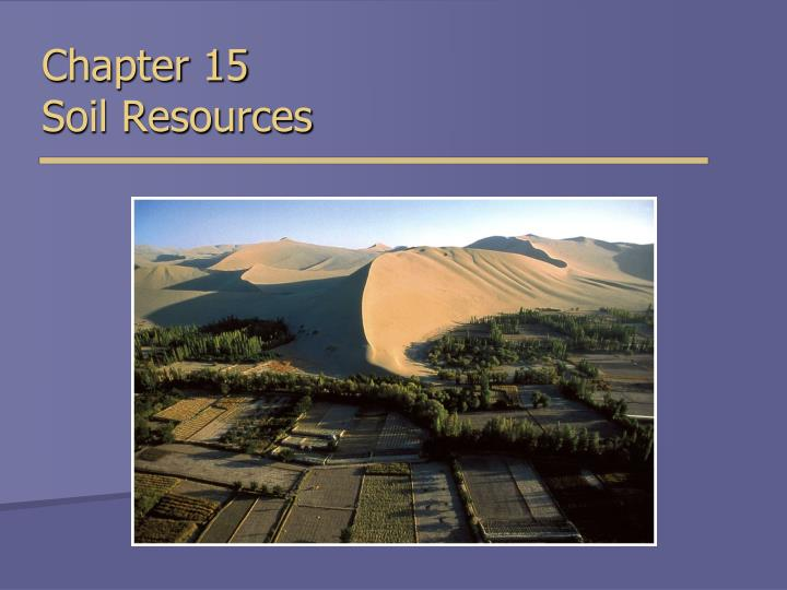chapter 15 soil resources n.