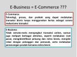 e business e commerce