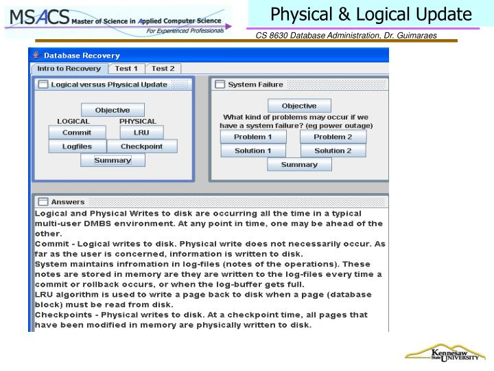 Physical & Logical Update