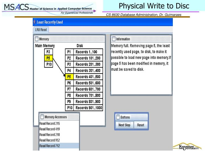 Physical Write to Disc