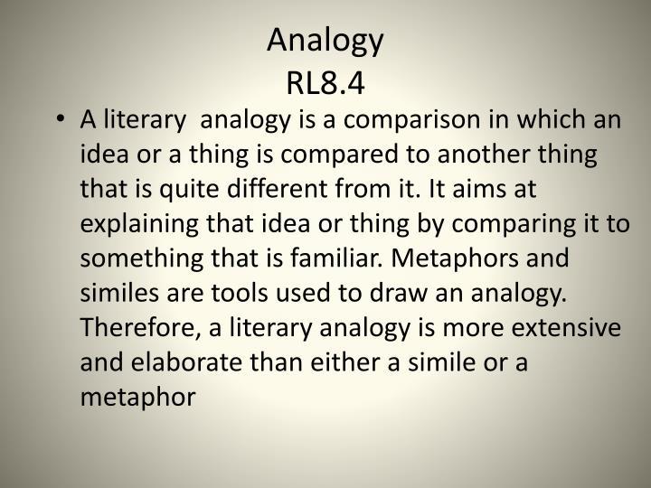 Analogy rl8 4