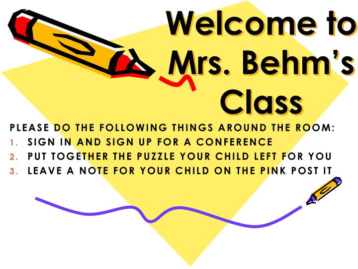 welcome to mrs behm s class n.