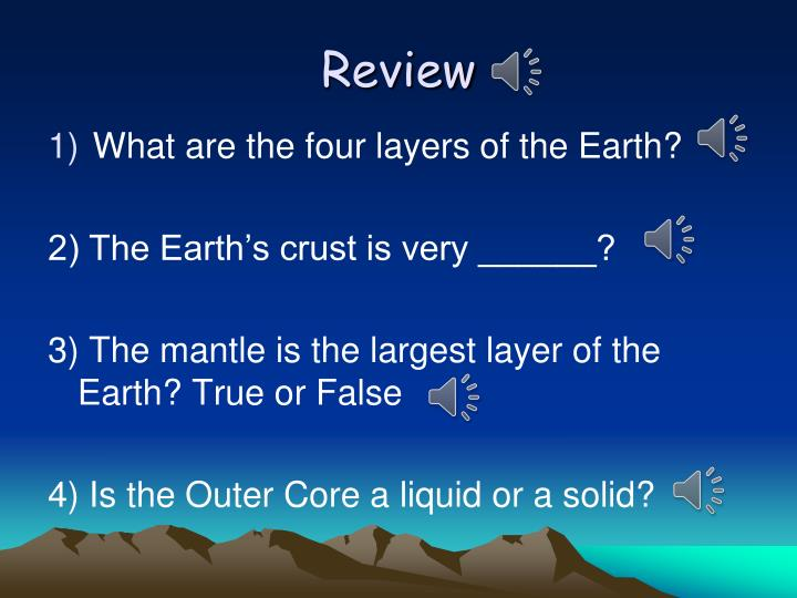 what is the largest layer of earth