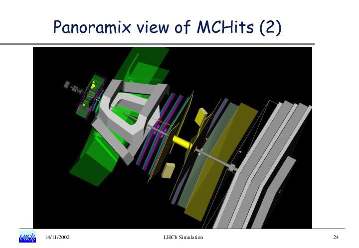 Panoramix view of MCHits (2)