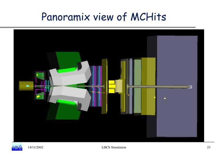 Panoramix view of MCHits