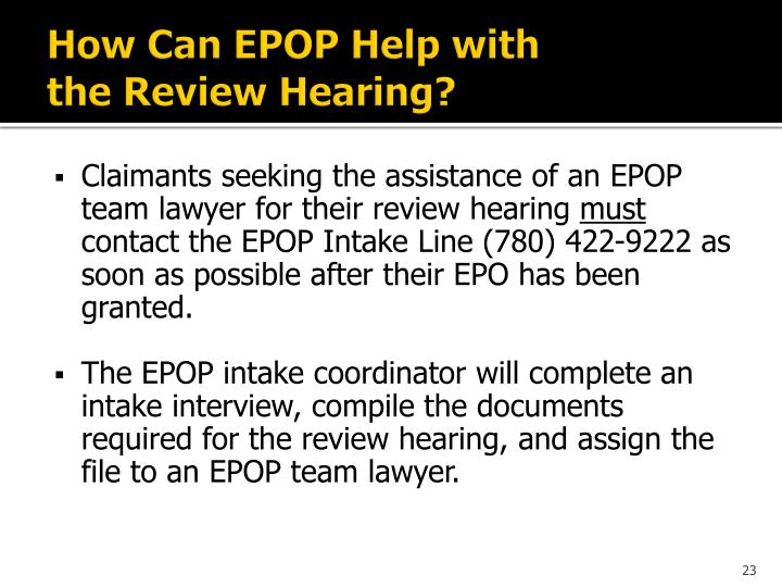 How Can EPOP Help with