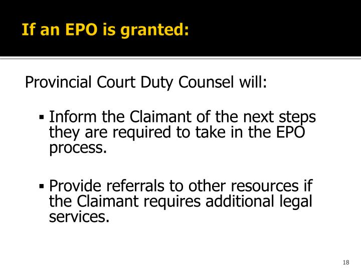 If an EPO is granted: