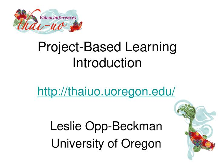 project based learning introduction n.