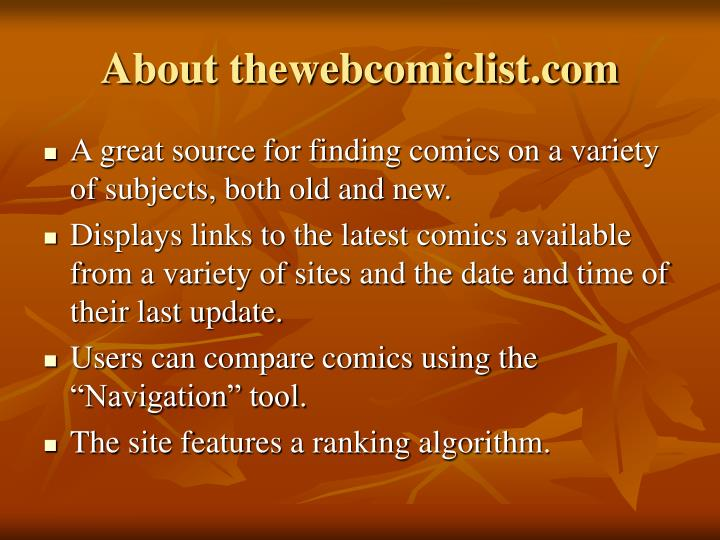 About thewebcomiclist.com
