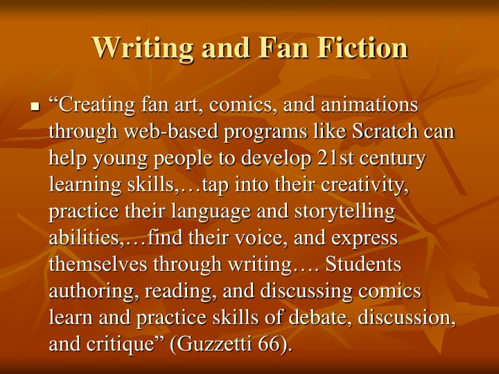 Writing and Fan Fiction