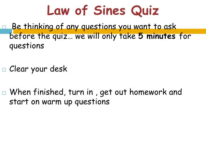 law of sines quiz n.