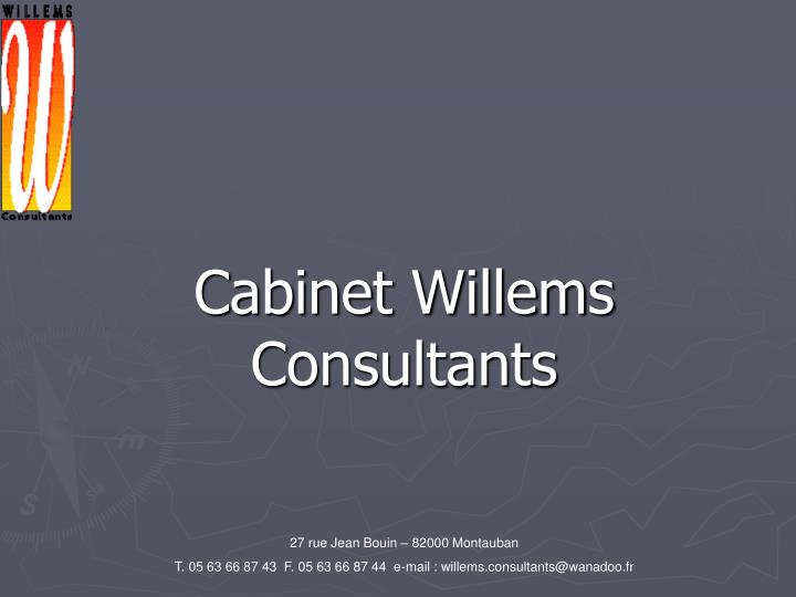 cabinet willems consultants n.