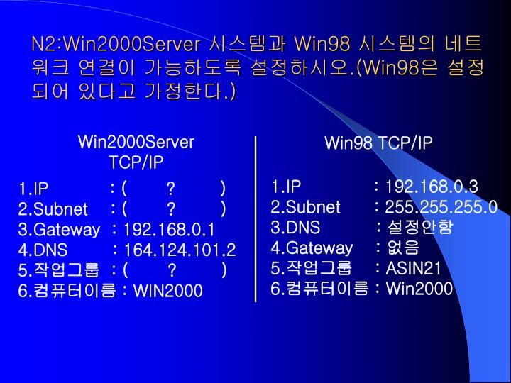 N2:Win2000Server