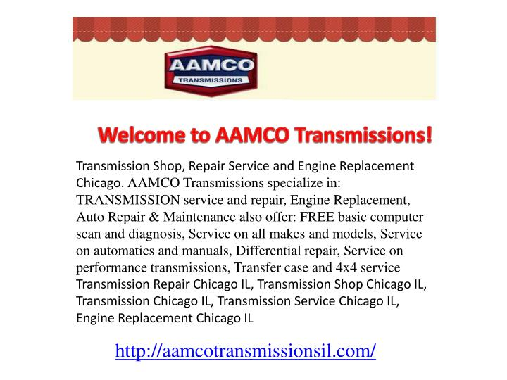 Welcome to AAMCO Transmissions!