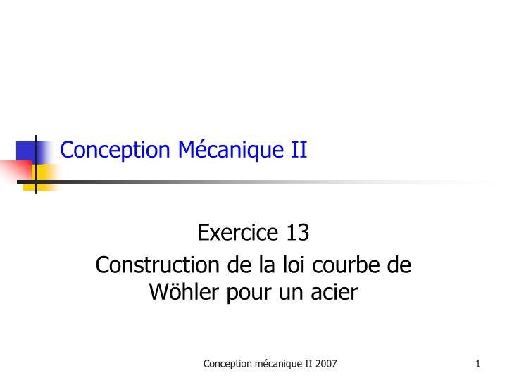 conception m canique ii n.