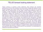 telus forward looking statement