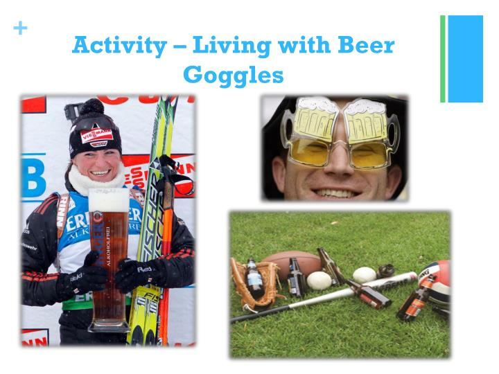Activity – Living with Beer Goggles
