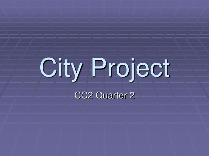 city project n.