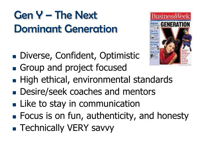 Gen Y – The Next