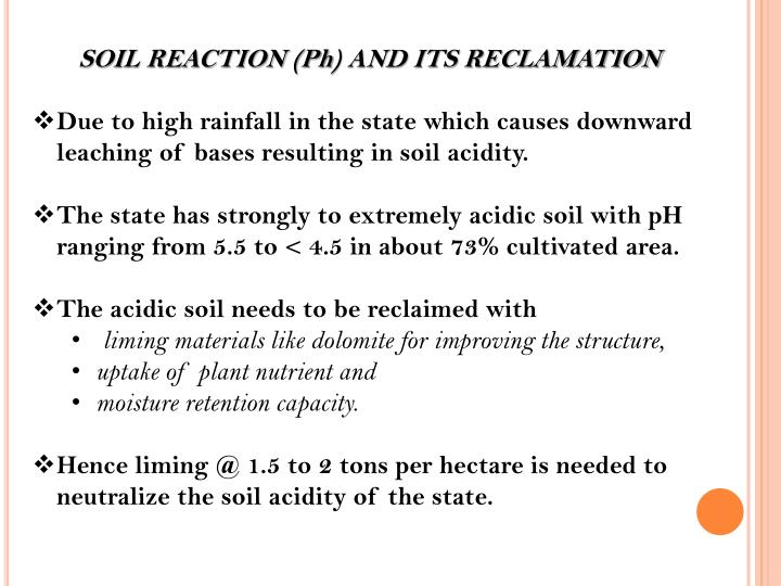 SOIL REACTION (