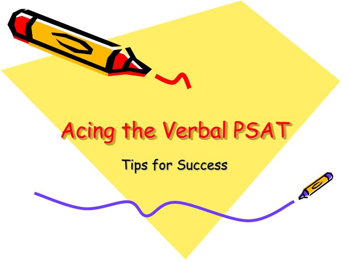 acing the verbal psat n.