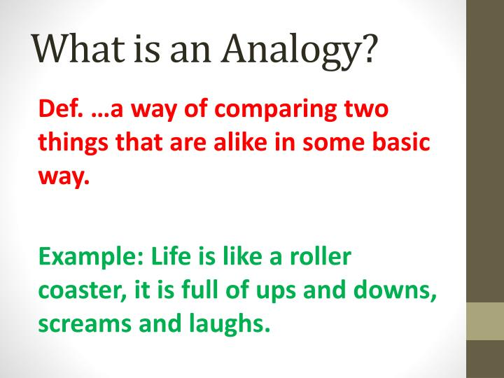 Ppt What Is An Analogy Powerpoint Presentation Id6260381