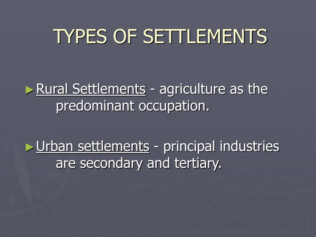 PPT - SETTLEMENT PATTERNS/ URBAN GEOGRAPHY PowerPoint