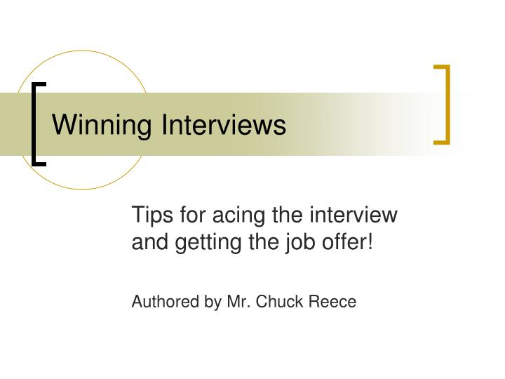 winning interviews n.