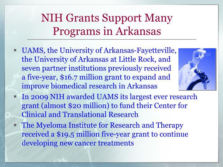 NIH Grants Support Many Programs in Arkansas