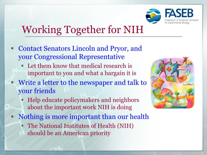 Working Together for NIH