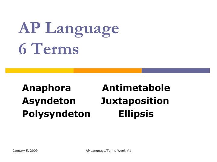 ap language 6 terms n.