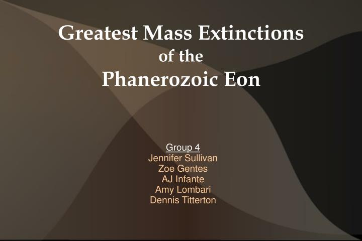 greatest mass extinctions of the phanerozoic eon n.