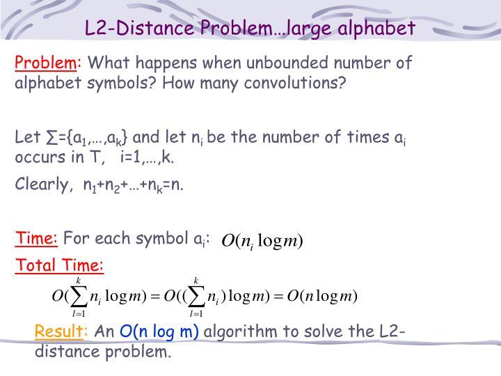 L2-Distance Problem…large alphabet